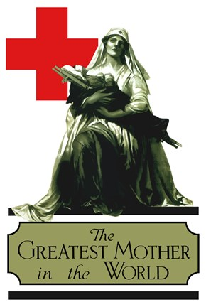 Framed Red Cross - Greatest Mother in the World Print