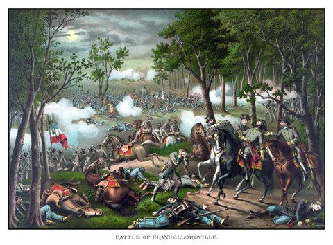 Framed Battle of Chancellorsville Print