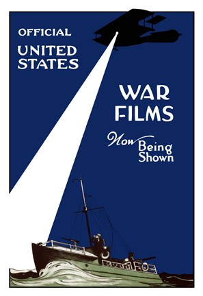 Framed War Films Now Being Shown Print