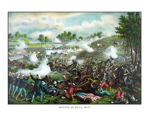 Framed Battle of Bull Run Print