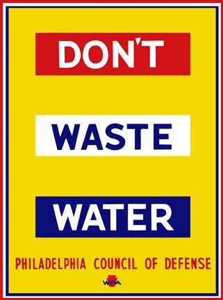Framed Don't Waste Water Print