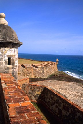 Framed Castle of San Cristobal, Old San Juan, Puerto Rico Print