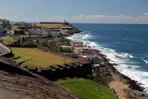 Framed Puerto Rico, San Juan View from San Cristobal Fort Print
