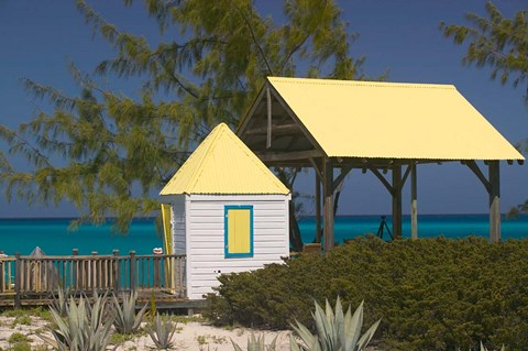Framed Windmills Plantation Beach House, Salt Cay Island, Turks and Caicos, Caribbean Print