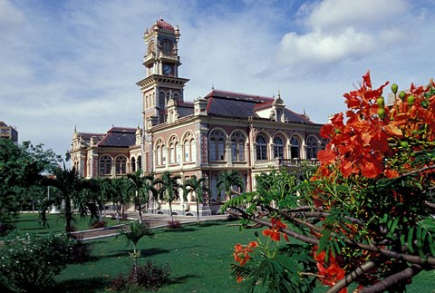 Framed Magnificent Seven Mansion and grounds, Port of Spain, Trinidad, Caribbean Print