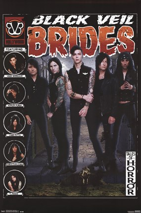 Framed Black Veil Brides - Tales of Horror Print