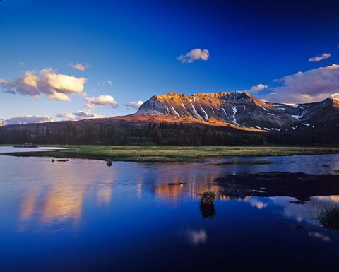 Framed Sofa Mountain in Beaver Pond, Waterton Lakes NP, Alberta Print