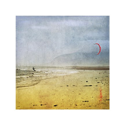 Framed Kite Surfer Print