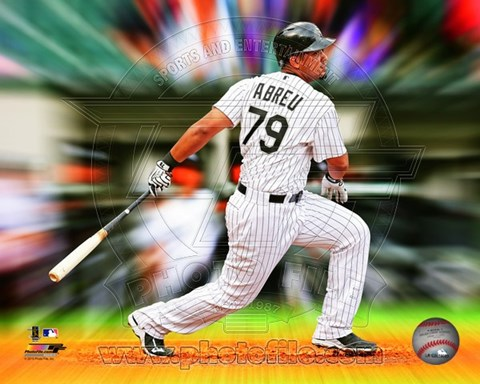 Framed Jose Abreu Motion Blast Print