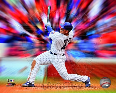 Framed Anthony Rizzo Motion Blast Print