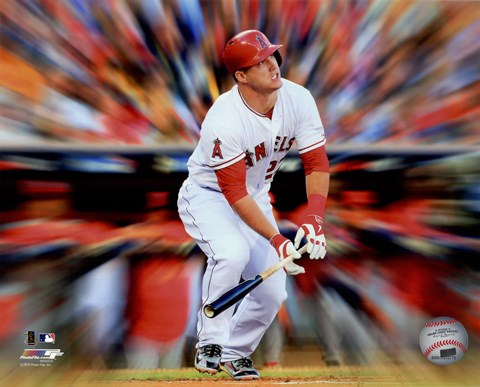 Framed Mike Trout Motion Blast Print