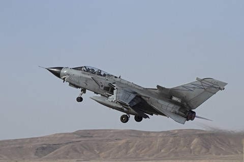 Framed Panavia Tornado of the Italian Air Force taking off Print