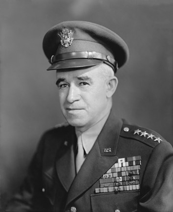 Framed Four Star General Omar Bradley (WWII) Print