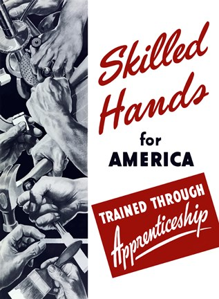 Framed Skilled Hands for America Print