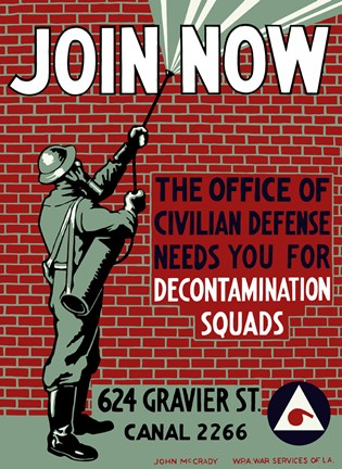 Framed Decontamination Squads - Join Now Print