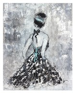Elegant Booba with Blue Sash  Fine Art Print