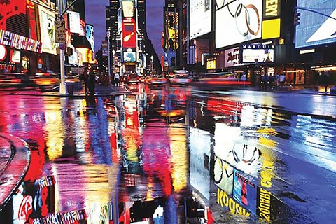 Framed Times Square - Colors Print