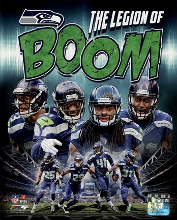 Framed Seattle Seahawks Composite - Earl Thomas, Richard Sherman, Kam Chancellor, Byron Maxwell Print