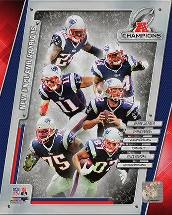 Framed New England Patriots 2014 AFC Champions Team Composite Print