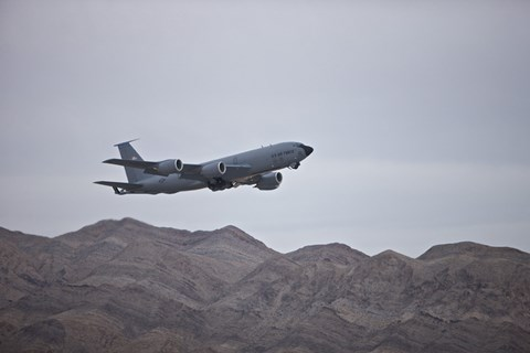 Framed KC-135 Stratotanker Takes off from Nellis Air Force Base, Nevada Print