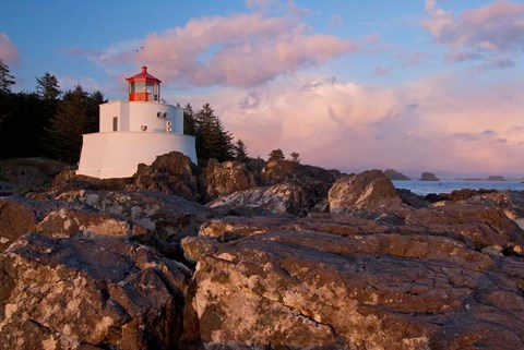 Framed Amphitrite Lighthouse, Vancouver Is, British Columbia Print