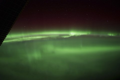 Framed Aurora Borealis as Viewed onboard the International Space Station Print