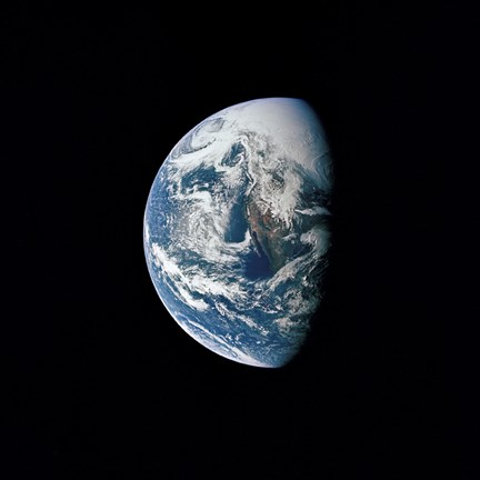 Framed View of Earth taken from the Apollo 13 Spacecraft Print