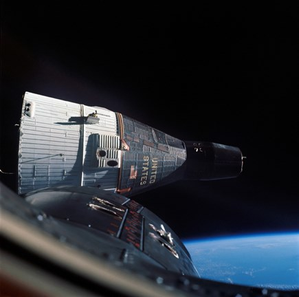 Framed Gemini 7 Spacecraft in Earth Orbit Print