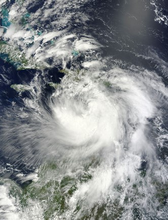Framed Tropical Storm Isaac Moving through the Eastern Caribbean Sea Print