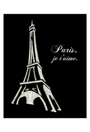 Framed Eiffel Tower (Popular French Cities) Print