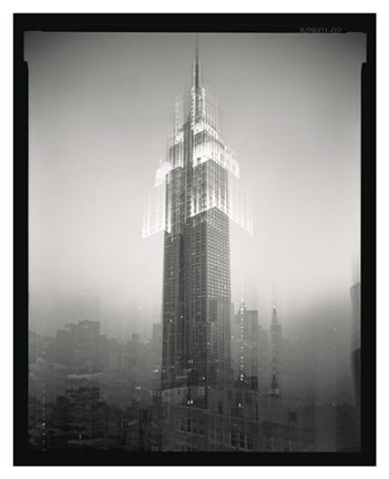 Framed Empire State Building Motion Landscape #2 Print
