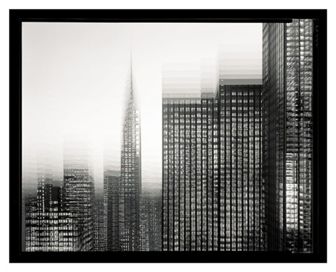 Framed Chrysler Building Motion Landscape #1 Print