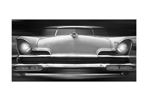 Framed Lincoln Continental Print