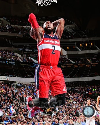 Framed John Wall shooting 2014-15 Print