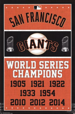 Framed San Francisco Giants™ - Champions 15 Print