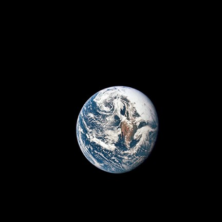 Framed view of Earth taken from the Apollo 10 Spacecraft Print