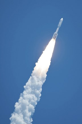 Framed Atlast V Rocket Carrying the Juno Spacecraft During a Midday Launch Print