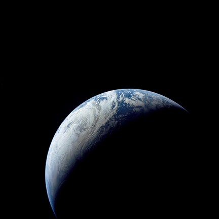 Framed Crescent Earth taken from the Apollo 4 Mission Print