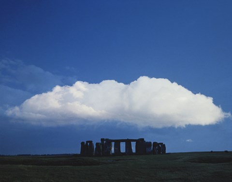 Framed Large Cloud over Stonehenge, Wiltshire, England Print