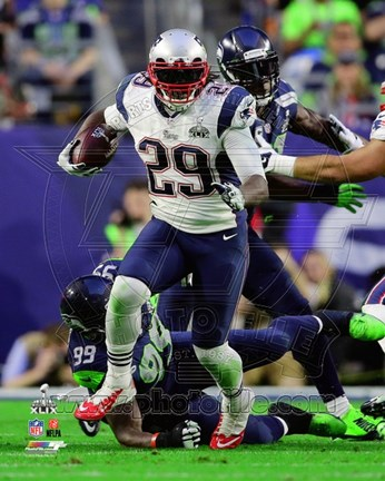 Framed LeGarrette Blount Super Bowl XLIX Action Print