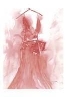 Marsala Ballgown 1  Fine Art Print