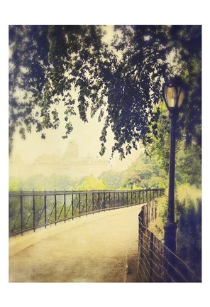 Framed Central Park Path 1 Print