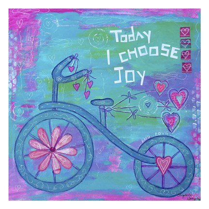 Framed Choose Joy Tricycle Print