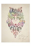 Owl Set 01  Fine Art Print
