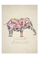 Elephant Set 01  Fine Art Print