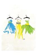 Watercolor Dresses II  Fine Art Print