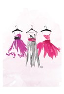 Watercolor Dresses IV  Fine Art Print