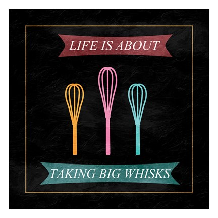 Framed Taking Whisks Print