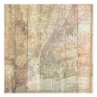 NY Map On Wood  Fine Art Print