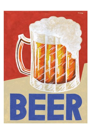 Framed Retro Beer Print